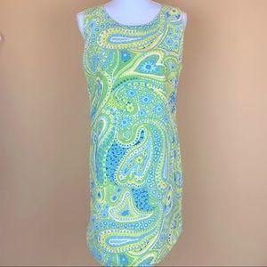 Sahalie retro paisley athletic sun dress